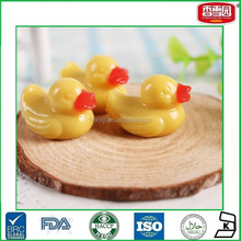 Mini Yellow Duck Shaped Gummy Jelly Candy Coated With Oil