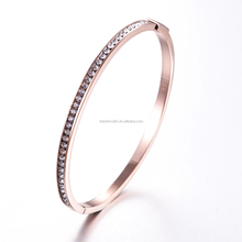 jewelry manufacturer Hot selling fashion magnetic women rose gold bracelet bangle with crystal SZ007