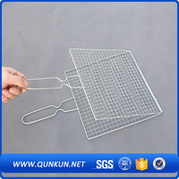 barbecue bbq grill wire mesh net/stainless steel crimped wire mesh