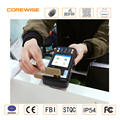 Portable programmed color screen android POS terminals with thermal printer ,member bank card