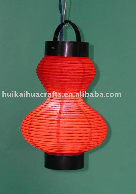 HHD-D306A Traditional hanging paper lantern with light