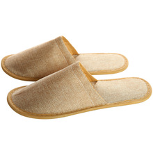 Wholesale hotel hotel one - time home stay accommodation thick ramie cotton cloth non - slip <strong>slippers</strong>