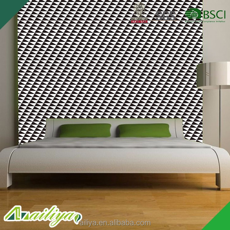 wholesale diamond-shaped with black white design decorative wall and furniture self adhesive pvc <strong>film</strong>