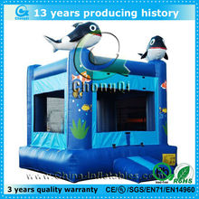 blue Finding Nemo dolphin inflatable bouncer