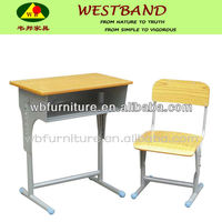 adjustable single student desk /kids school desk chair /kids school deskWB-K20