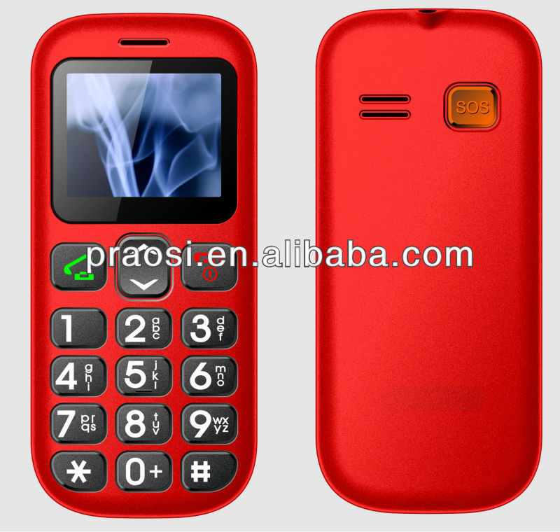 old people cell phone quad band / color screen / mp3 / FM / dual sim / quadband / bluetooth / SOS / big button