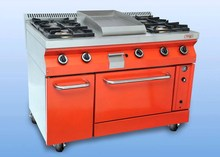 Gas Cooker 4 Burner w/t Fry Top & Oven