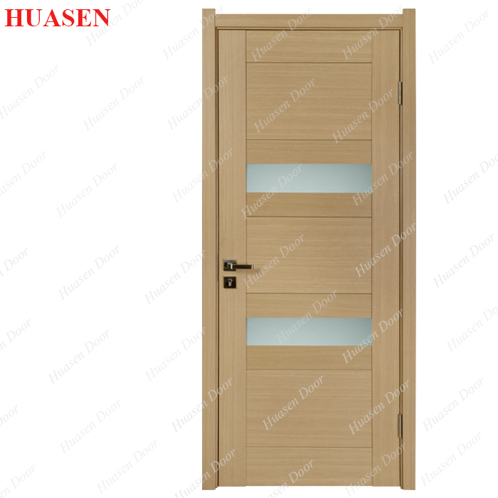 office wooden door with glass window inserts