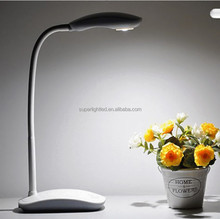 Modern 5w cordless bendable plastic led rechargeable study table lamp