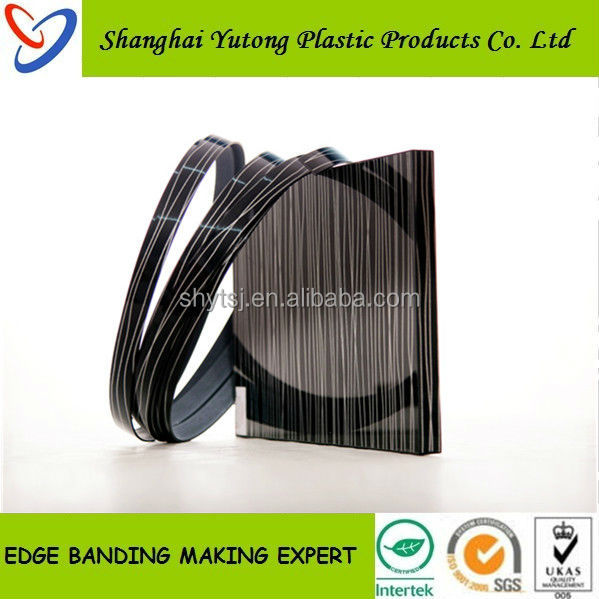 plastic/pvc/rubber/abs/acrylic/melimine wood furniture edge trim