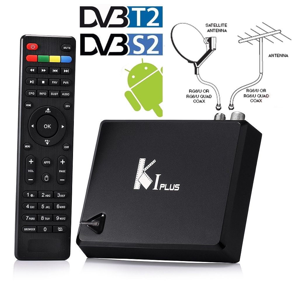 KI PLUS +T2 S2 Amlogic S905 Quad core Support DVB-T2 DVB-S2 4K Android 5.1 TV Box