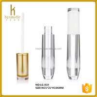 Luxury design gold shape lip gloss containers for cosmetic packaging