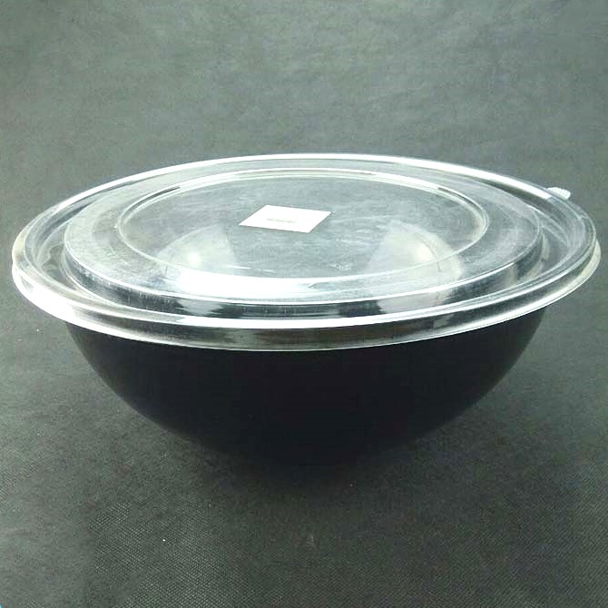 Disposable PET hot selling plastic 160oz round bowl