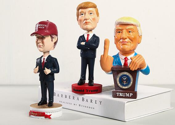 Custom Resin Donald Trump bobble head,bobble head figurines