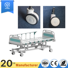 WBD 5'' silent stretcher central locking TPU hospital beds wheels