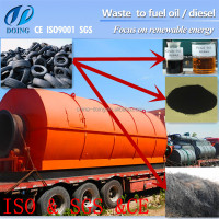 Pressure vessel standard waste tire recycling to fuel oil pyrolysis machine plant