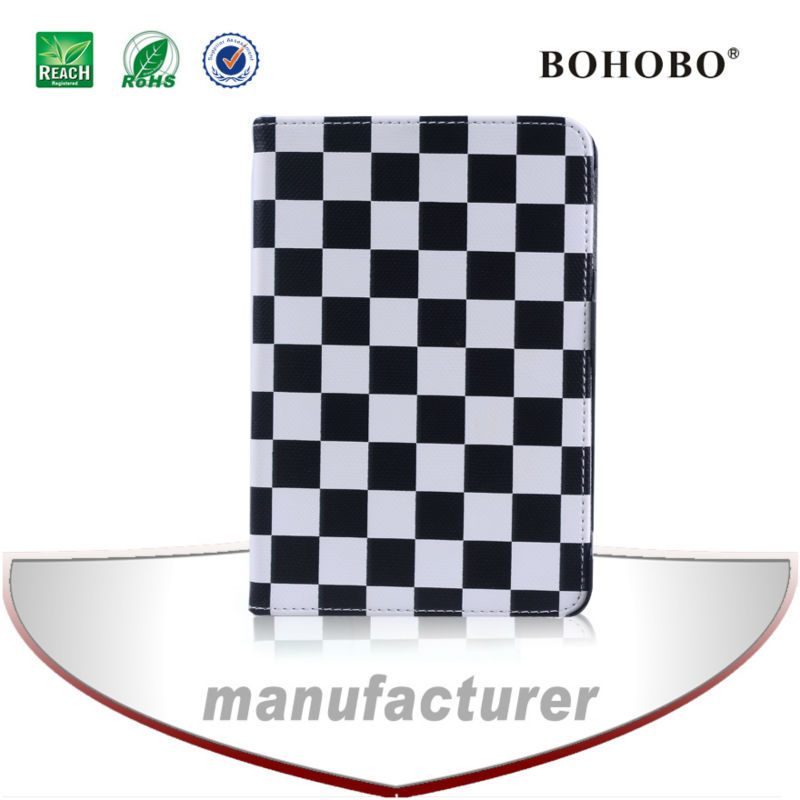 Black and white grid tablet cover case for apple ipad air 64gb