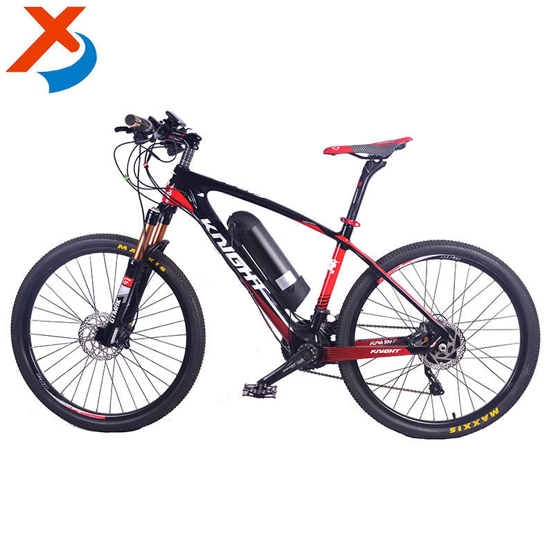 Simple style 26'' 36v 350w fat carbon fiber frame ultra light adult mountain electric road bicycle bike with disc brake