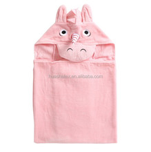 China Supplier Wholesales Unicorn Design Super Cute Pink Baby Bathrobes Ultra Soft and Tender Promotional Girls Bath Towel