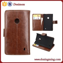 Wallet Flip Leather Case Cover For Nokia Lumia 520 L 525