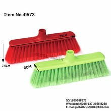 HQ0573 virgin plastic soft fiber broom brush hand push sweeper