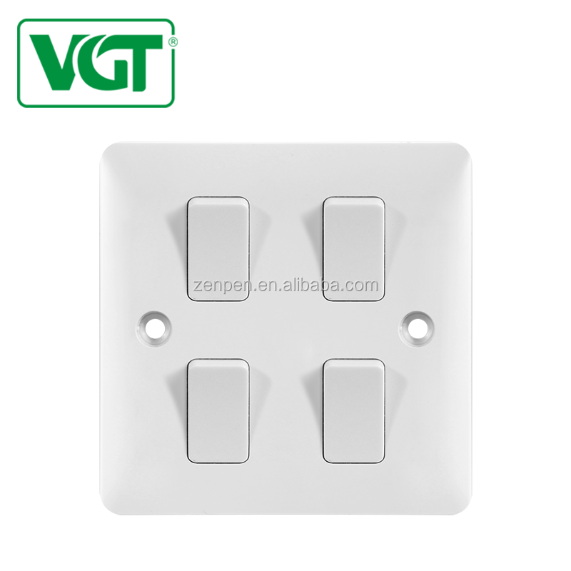 Hot Selling Good Reputation High Quality Surface Mounted 4gang 1way Light Switch
