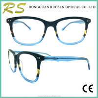 2017 Wholesale Designer Eyeglasses Lamination Acetate