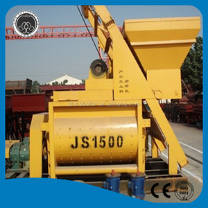 Sold to pakistan JS1500 concrete mixer with pump used construction companies