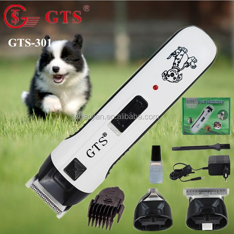 Rechargeable cordless electric pet hair tirmmer/pet clipper