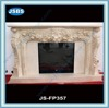 Hand Carved Marble Flower Fireplace Mantel