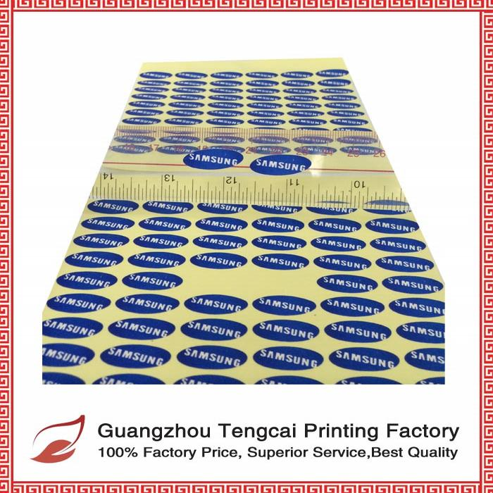 customized logo printing anti-counterfeit waterproof adhesive paper laminated paper sticker