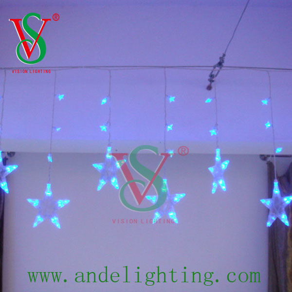 high quality holiday decoration LED Icicle Light star cover
