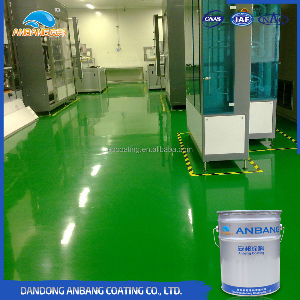 AB-DP-300M epoxy material hard wearing industrial floor coatings with easy to clean and maintain