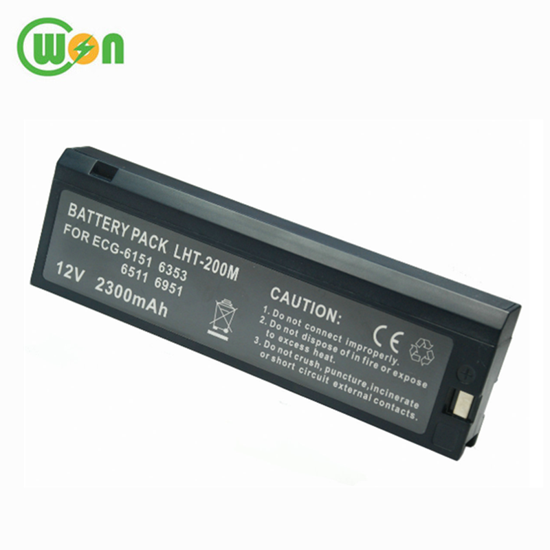 Sealed Lead Acid 12V 2300mAh Rechargeable Battery for Nihon Kohden LCT-1912NK Vital Sign Monitor