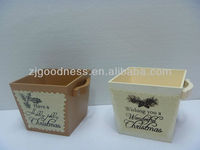GOOD SALE 6''H Wooden Box with Handle, 2 Styles