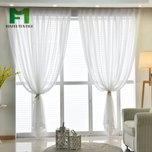 fire retardant new design plain sheer curtain