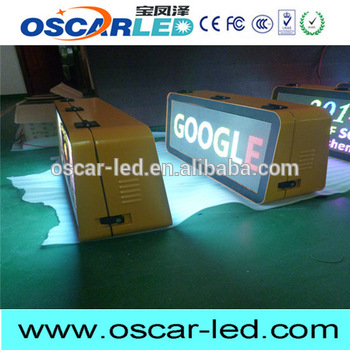 Multifunctional taxi top led display with great price
