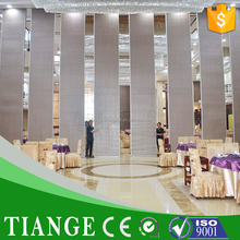 Mobile fabric acoustic partition 65 type mobile partition for banquet room