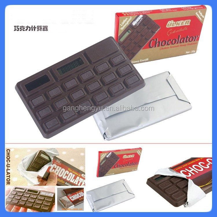 Chocolate calculator for promotional gift,cheap calculators for sale