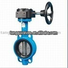 Wormgear Operated Wafer Type Butterfly Valve