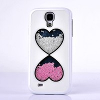 Fashional Glitter Bling Colorful Liquid Hard Back Cover PC Phone Case for Samsung Galaxy S4 IV I9500