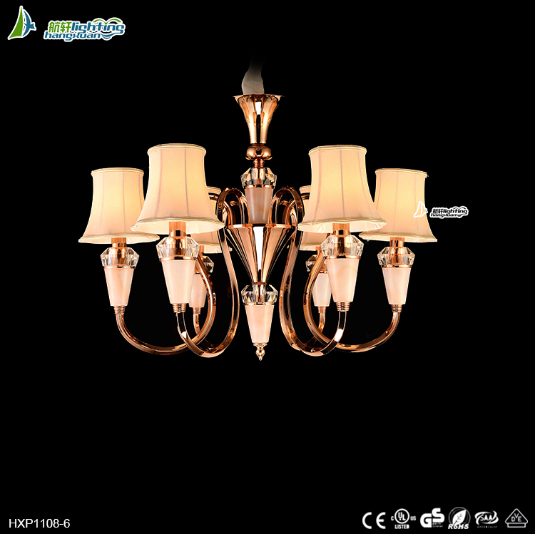 Design living room luxury glass candle ceiling light chandelier