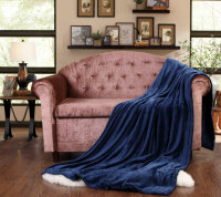 Promotion hot selling queen size flannel blanket blue