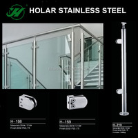 glass stair rail hardware, glass railing wood stair, balcony stainless steel railing design