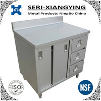 NSF Approval Stainless Steel Kitchen Cabinet with Three Drawers
