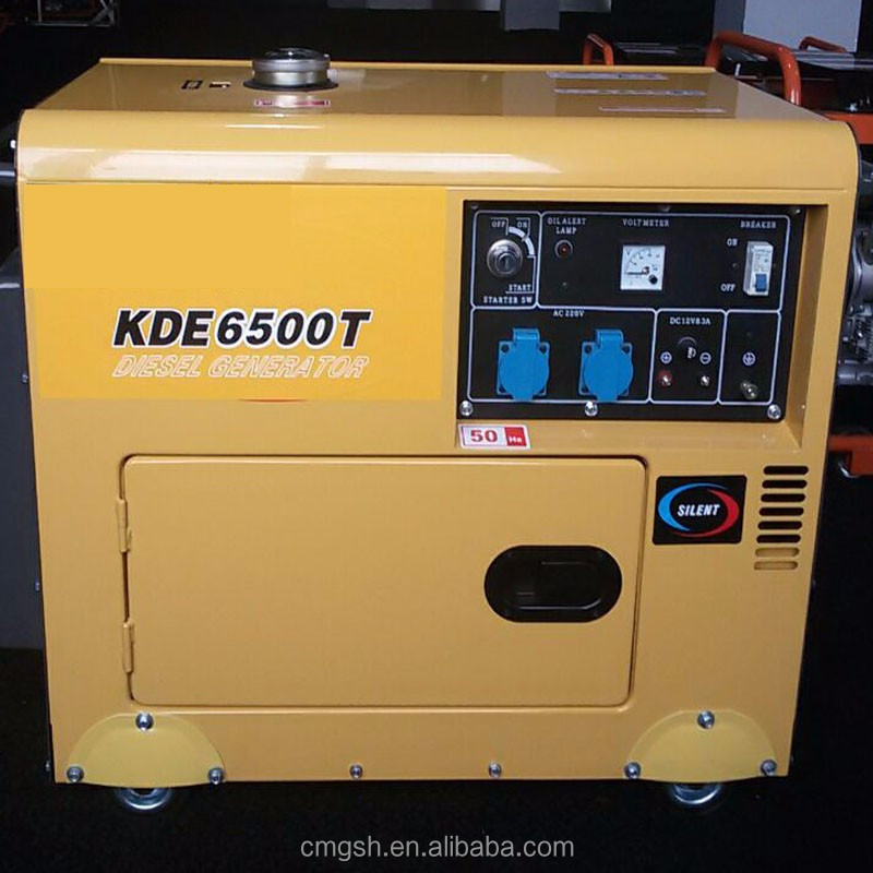 K186F 5KVA silent AC Phase single 220V diesel generator for home use