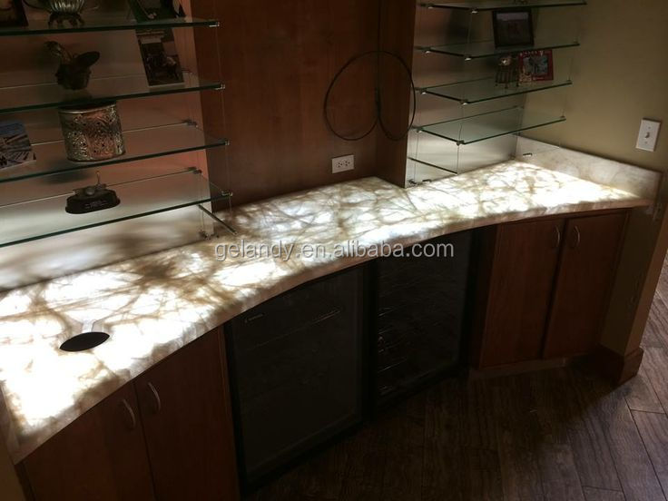 translucent illuminated transparent stone precut discount synthetic solid surface bathroom countertops