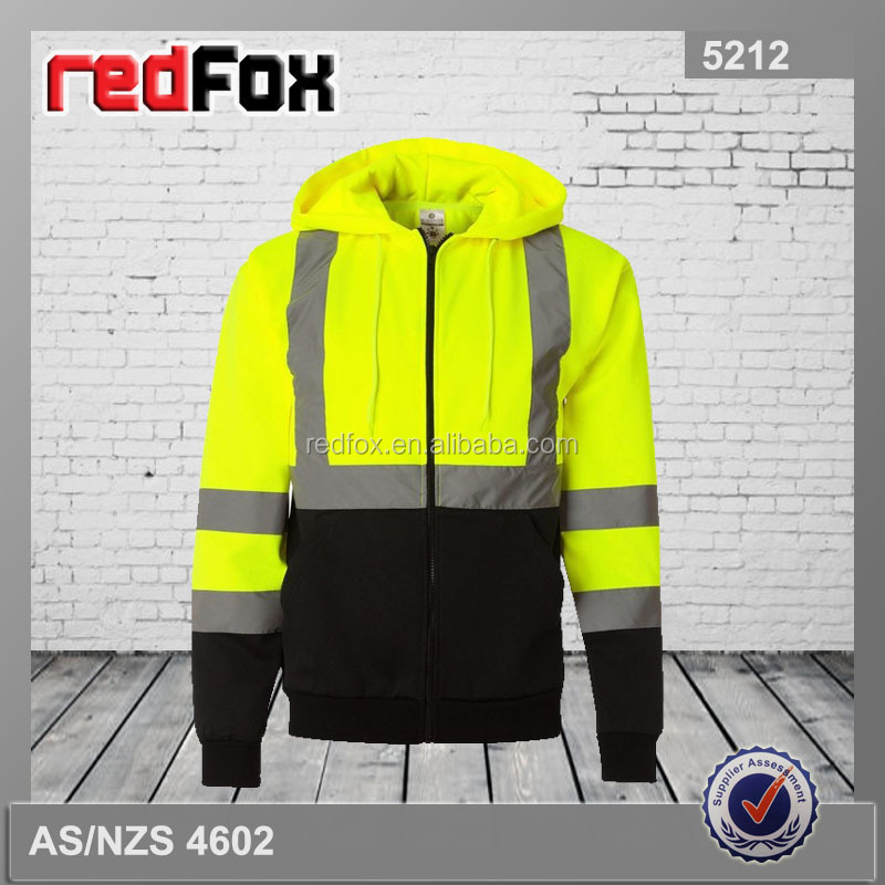 high visibility reflective name brand hoodies for cheap