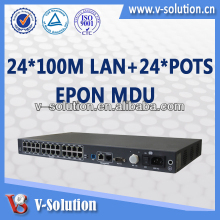 ONT GPON/GE Uplink 24 port Network GPON/EPON Switch MDU