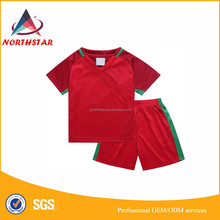 Children sportswear good thai quality,youth football jersey, customized kids soccer jersey for club
